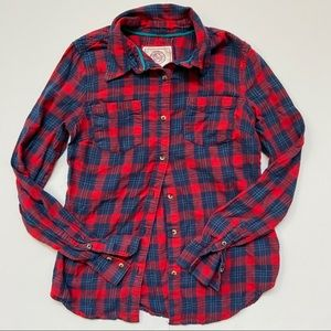 So Authentic American Heritage Button Down Flannel